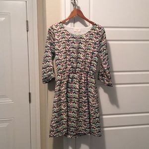 Everly Multi Colored Dress Size Small